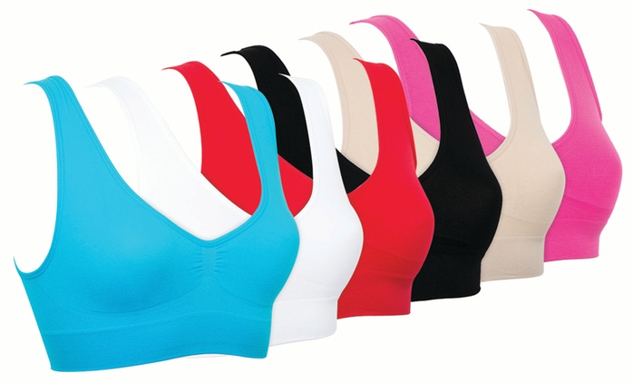Lot de 6 soutien-gorges Comfort, modèle et taille au choix à 12,98 €
