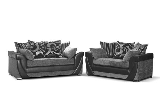 Grace Three plus Two Sofa Set Groupon Goods : 006C000000ssO1O04112014BCside6black 1000x600 from www.groupon.co.uk size 620 x 372 jpeg 38kB