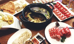 Buffalo Little Lamb: Authentic Mongolian Hot Pot Mongolian Barbecue for Two for Lunch or Dinner at Buffalo Little Lamb (38% Off)