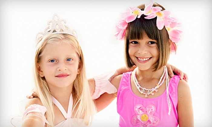 Sharkey's Cuts for Kids - Carriage Park: Glamour Girl & Diva Birthday Party for 6 or 12 Kids at Sharkey's Cuts for Kids in Johns Creek (Up to 53% Off)