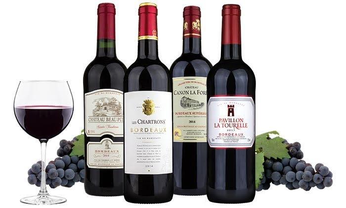 4 Bottles of Bordeaux - Wine Insiders | Groupon