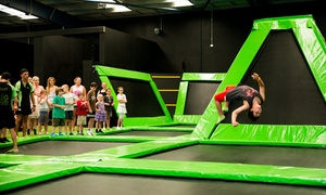 Flip Out - Nth Wollongong: Two-Hour Trampoline Park Entry for 1 ($13), 2 ($25) or 4 People ($49) at Flip Out North Wollongong (Up to $104 Value)