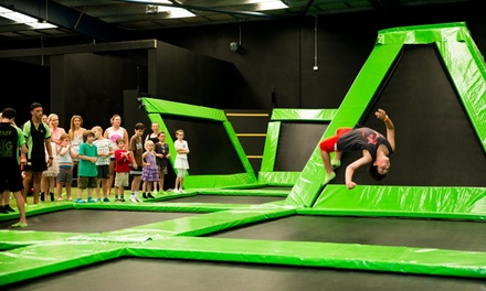 TwoHour Trampoline Entry for One $13, Two $25 or Ten People $149 at Flip Out, North Wollongong Up to $260 Value