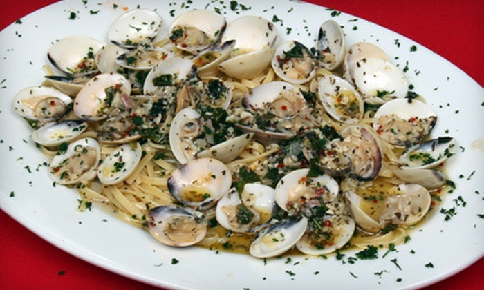 J. Marinara's - Oro Valley: Three-Course Italian Dinner with Wine for Two or Four at J. Marinara's (Up to 53% Off)