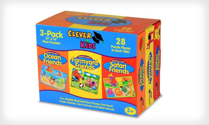 The Learning Journey Clever Kids Puzzles: $2.99 for a Three-Pack of The Learning Journey Clever Kids Puzzles ($23.97 List Price). Two Options Available.