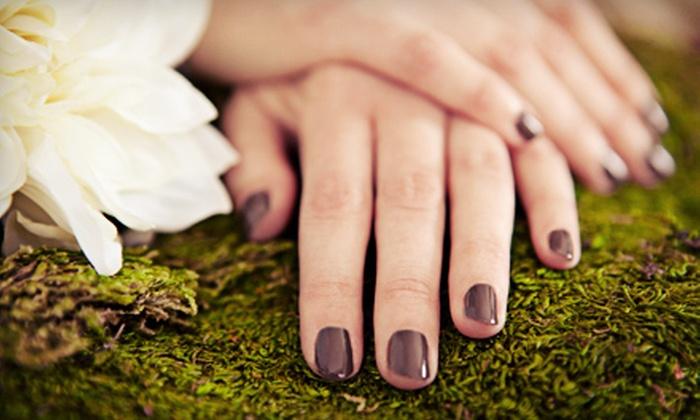 Organic Keratin - Lower Town: Shellac Manicure, Basic Mani-Pedi, or Brazilian Manicure and Basic Pedicure at Organic Keratin (Up to 64% Off)