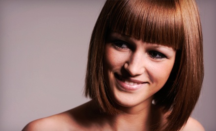 Haircut, Conditioning, and Color Package, or Conditioning and Blow-Dry at The Cut Salon (Up to 56% Off)
