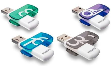 Clé USB 2.0 Vivid Edition Philips 8, 16, 32 et 64 GB