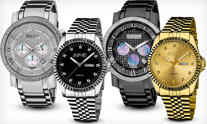 Akribos XXIV, August Steiner, and Burgi Diamond Watches: Akribos XXIV, August Steiner, and Burgi Diamond Watches (Up to 89% Off). Free Shipping and Returns.