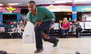 Sunset Lanes: $34 for Bowling Package for Up to Five including Shoes & Arcade Card ($69.43 value)
