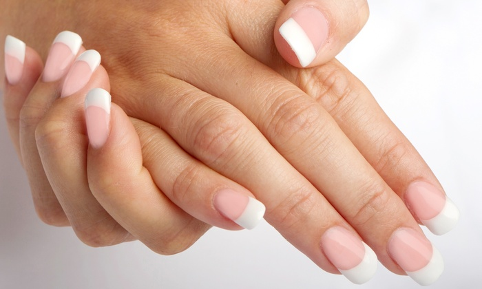 Grand Design Nail Salon - Fairfield: One Full Set of Clear or Pink-and-White Acrylic Nails at Grand Design Nail Salon (Up to 51% Off)