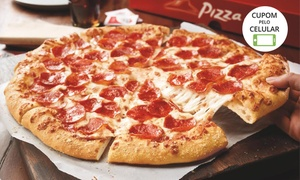 Pizza Hut – Baixada Santista: Pizza grande (opção com trio Slider doce) na Pizza Hut – Baixada Santista, Canal 4 ou Praia Mar