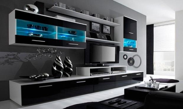 wandkasten set met tv meubel groupon goods