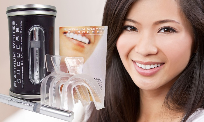 Platinum Whites: At-Home Teeth-Whitening Kits from Platinum Whites (Up to 84% Off). Two Options Available.