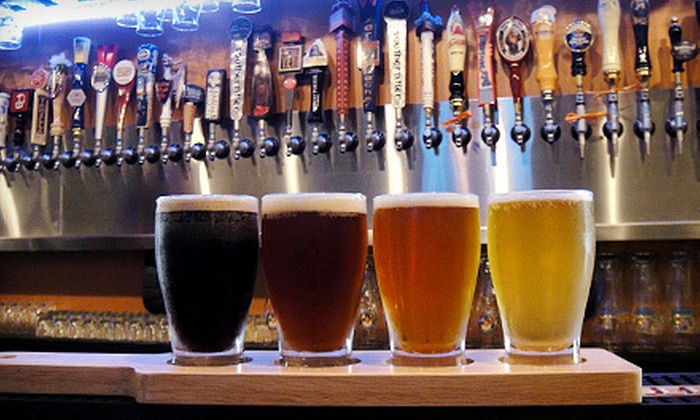 House for Beer - Port Orange - Pavilion Mall: Beer Flight Package for Two or Four with Pints and a Gift Card at House for Beer (Up to 65% Off)