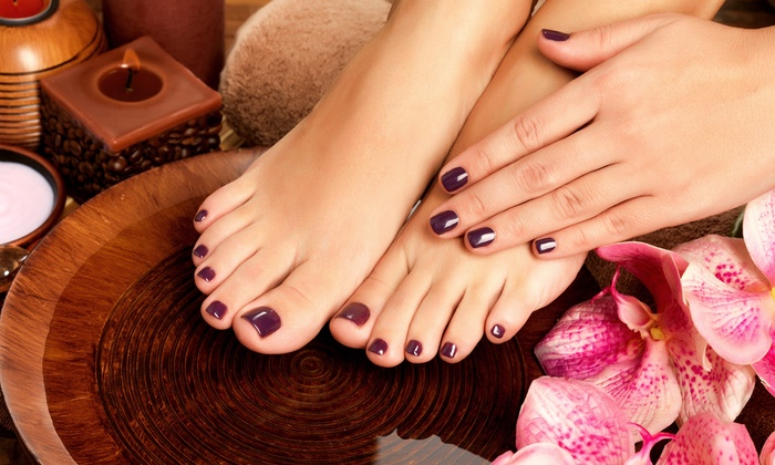 Kolorz Nail Studio - Shaker Heights: Two Gel Manicures or Massage Pedicures, or One Mother-Daughter Mani-Pedi at Kolorz Nail Studio (Up to76% Off)