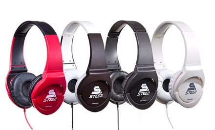 Pioneer Steez On-Ear Dance-Inspired Stereo Headphones in Black, Brown, Red, or White.