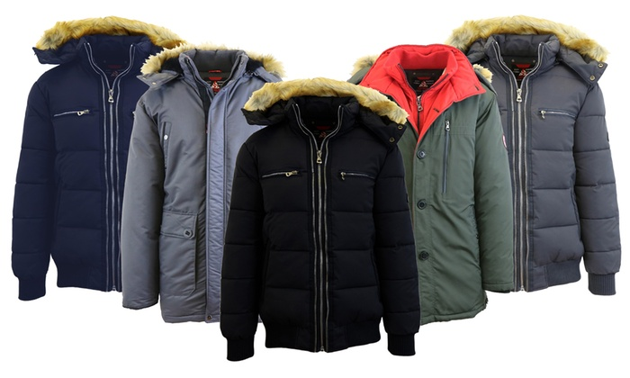 1045105a7 Spire by Galaxy Men's Heavyweight Winter Parka Jackets with Hood ...