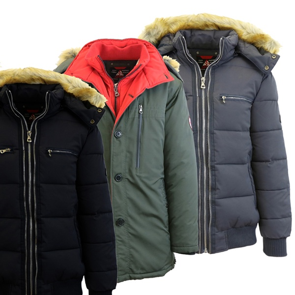 c427b4473c4 Spire by Galaxy Men's Heavyweight Winter Parka Jackets with Detachable Hood