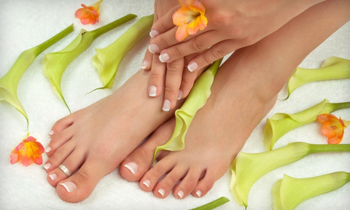 Queen Nail - Knoxville: Manicure and Pedicure, or One or Two Pedicures with Pumpkin Spice Foot Scrub and Mask at Queen Nail (Up to 61% Off)
