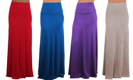 groupon daily deal - Free To Live Women's Maxi Skirts. Multiple Colors Available. Free Returns.