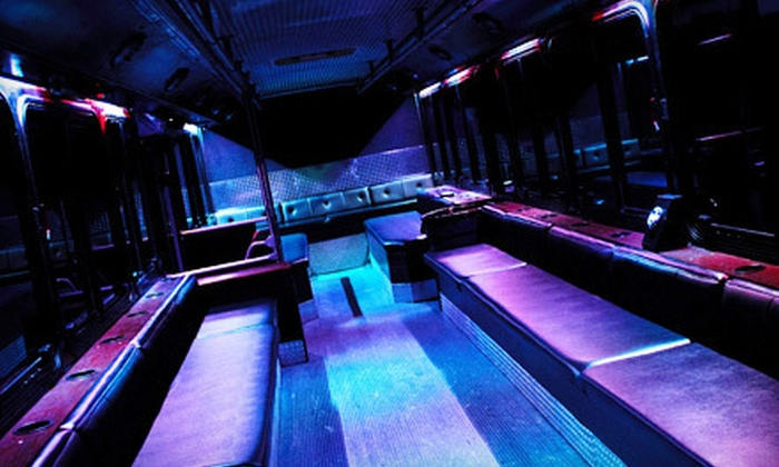P. R. Party Lines - Norwalk: $249 for a Five-Hour Rental of a Full-Sized, 40-Person Party Bus from  P.R. Party Lines ($500 Value)