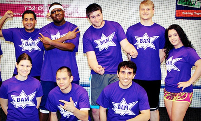 BAM Social Sports - Multiple Locations: Dodgeball-, Volleyball-, Kickball-, or Softball-Team Registration for One from BAM Social Sports (50% Off)