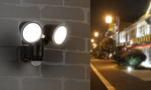 Link2Home Motion Sensor LED Dual Head Flood Light - 220 Lumen
