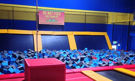 Two Hours of Jump Time, Dodgeball Court Rental, or 10 Airobics Classes at Sky High Sports (Up to 53% Off)