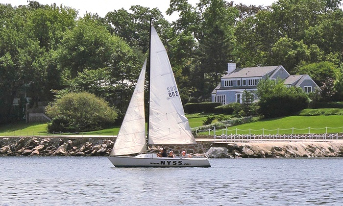 New York Sailing School - New Rochelle: Four-Hour Beginner Sailing Course for One or Two from New York Sailing School (Up to 53% Off)