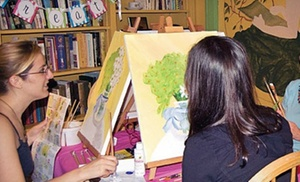 Byob Painting Class For Two Or Four, Or A Party For Up To Eight At Busy Bees Pottery And Arts Studio (up To 57% Off)