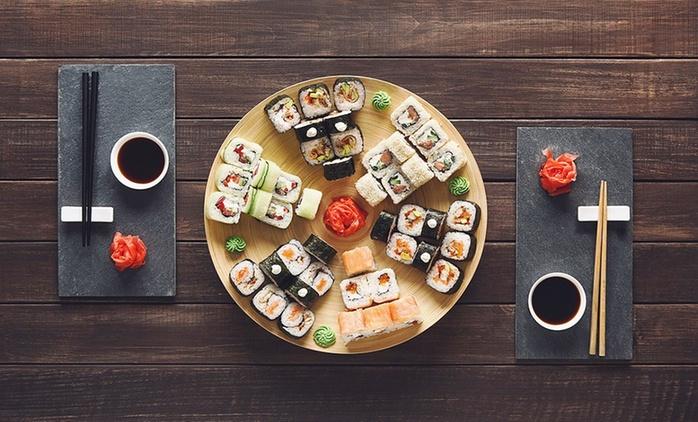 Menu Fusion All you can eat con sushi e specialità asiatiche del Sichuan, bottiglia di vino o birra da Tin House a Monti