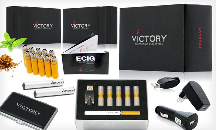 Victory e-Cigarette Deluxe Starter Kit: $25 for a Tobacco or Menthol Victory e-Cigarette Deluxe Starter Kit ($129.99 List Price). Free Shipping.