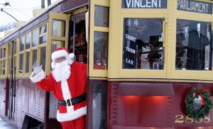 The Shore Line Trolley Museum: Santa's Trolley Winter Wonderland for Two or Four at The Shore Line Trolley Museum (40% Off)