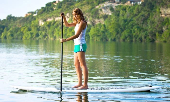 UAO Stand Up Paddle Boarding - Plymouth - Wayzata: Standup-Paddleboard Rental or Lesson at UAO Stand Up Paddle Boarding (Up to 53% Off). Four Options Available.