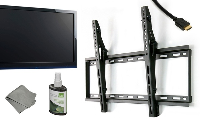 Fino TV Mount Bundle with HDMI and Cleaner: Fino TV-Mounting Kit with HDMI Cable (Up to 82% Off). Multiple Models Available.
