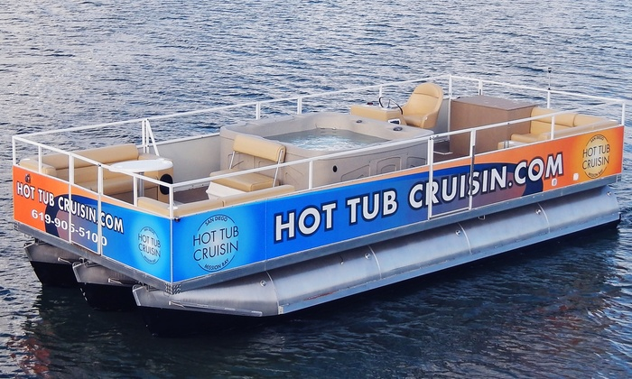 Hot Tub Cruisin - Mission Beach: Three-Hour Rental of a Hot-Tub Boat for Up to 10 from Hot Tub Cruisin (40% Off)