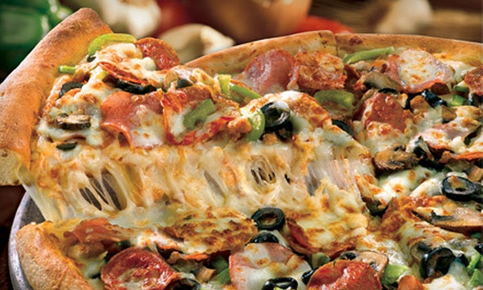 Papa John's - Multiple Locations: One or Three Extra-Large, Five-Topping Pizzas at Papa John's (Up to 56% Off)