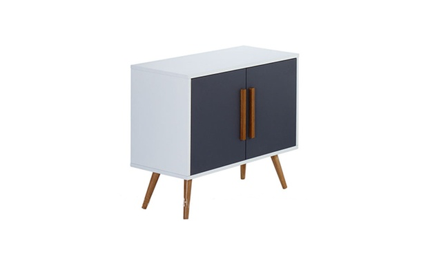 Meuble tv ou bureau moderne groupon for Meuble 70 cm largeur