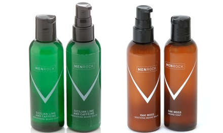 Men Rock One or Two Sets of Awakening or Soothing Beard Balm and Shampoo