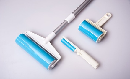 Bundle of Sticky Lint Rollers with Large Roller, Regular Roller, and Mini Roller. Free Returns.