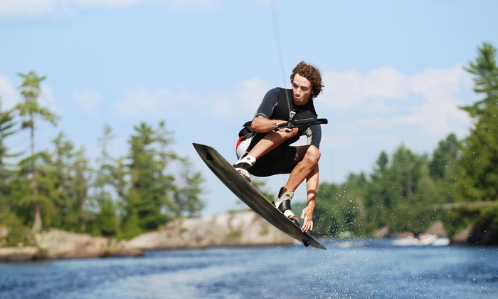 Wake the Lake Cable Park - Flowery Branch: One-Hour Cable-Wakeboarding Pass for One with Option for Gear and Lesson at Wake the Lake Cable Park (Up to Half Off)