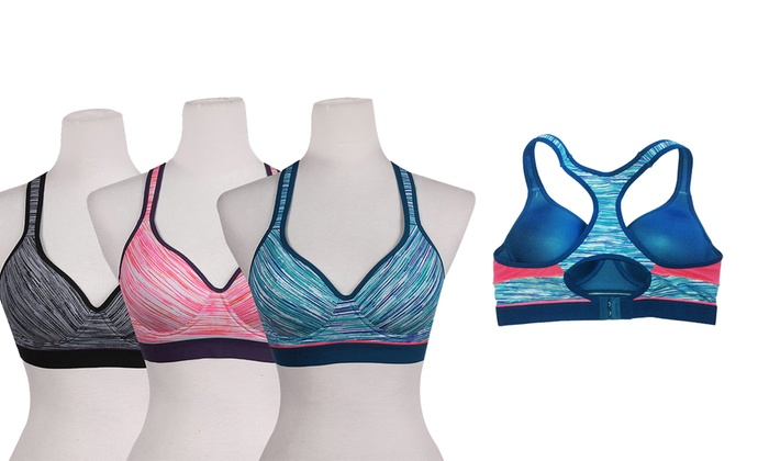 Women's Sports Bras in Regular and Plus Sizes (6-Pack)