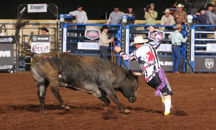 Ram National Circuit Finals Rodeo - Lazy E Arena: Ram National Circuit Finals Rodeo with Optional Concerts at Lazy E Arena (Up to 52% Off). Eight Options Available.