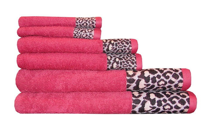 Towels With Animal Print Border Groupon Goods