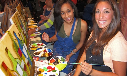Three-Hour BYOB Painting Class for One, Two, or Four at Pinot's Palette (Up to 51% Off)
