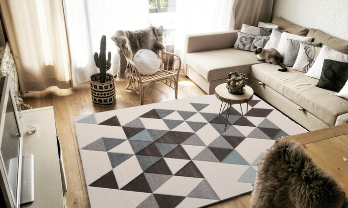 tapis scandinave groupon shopping. Black Bedroom Furniture Sets. Home Design Ideas