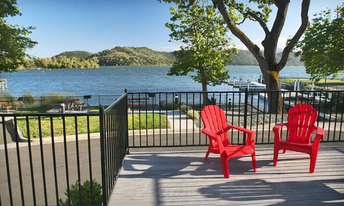 Clear Lake Cottages & Marina - Clearlake, CA: One- or Two-Night Stay with Kayak Rental and Wine at Clear Lake Cottages & Marina in Clear Lake, CA