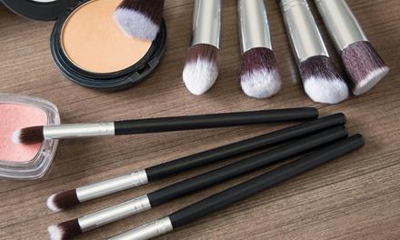 1 of 2 sets van 10 Kabuki makeup kwasten keuze uit 4 verschillende kleuren