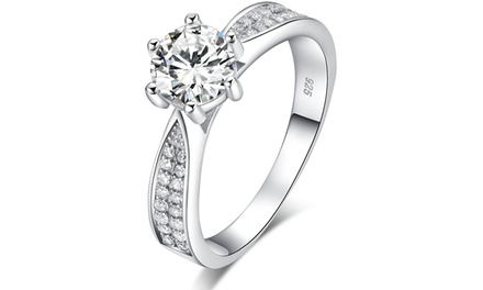 Sreema London Classic Pavé Engagement Ring